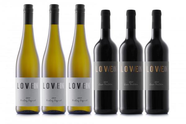 LoveWein, 6er-Paket, Kennenlern-Set, feinherb